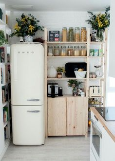 clean and organized kitchen space