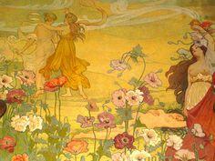 Floralia. The frescoes of Ettore De Maria Bergler in the party room at Villa Igeia.
