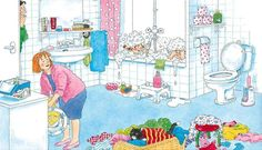 badkamer > >> > things rarely stay neat for long when you have children, BUT it will be the best years of your life! Teaching Spanish, Teaching English, Toddler Preschool, Preschool Activities, Sequencing Pictures, Action Verbs, Picture Writing Prompts, Lessons For Kids, Happy Colors