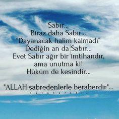 """Sabır... Biraz daha Sabır... """"Dayanacak halim kalmadı"""" Dediğin an da Sabır... Evet Sabır ağır bir imtihandır, ama unutma ki! Hüküm de kesindir... """"ALLAH sabredenlerle beraberdir""""… •mavi• #tavanarasi_ #mavi #istanbul #türkiye #turkey #vatan #bayrak #toprak #birlik #hüzün #kalp #huzur #üzgün #yürek #ömür #yorgun #düsün #dua #sabir #imtihan #hüküm"""