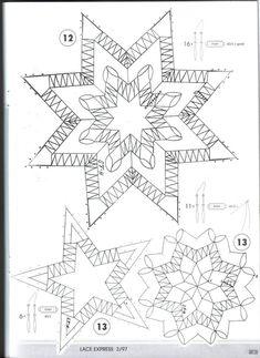 "Журнал ""Lace Express"" 1997 №3 Christmas Star, Christmas Themes, Lace Patterns, Stitch Patterns, Doily Art, Lace Saree, Bobbin Lacemaking, Lace Jewelry, Gold Jewellery"