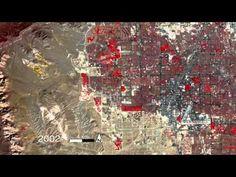 Time-Lapse Growth of Las Vegas from 1972 through 2010 as Seen Through Space Photos