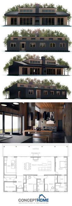 Eu adoro esses tipos de designers futuristas Casa dos Sonhos - plan de maison moderne 3d
