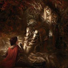 SPOILER.............. Bran Stark meets the three eyed crow.......  by MarcSimonetti.deviantart.com on @deviantART