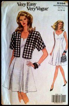 Easy Vogue  8394 Misses' Jacket And Dress   by ElliesPatternShop, $10.00