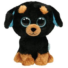*Ty Beanie Boos* Type: Dog -Rottweiler Name: Tuffy Birthday: February Introduced: 2010 Retired: July 2013 Ty Beanie Boos, Beanie Boo Dogs, Ty Boos, Rare Beanie Babies, Ty Animals, Ty Stuffed Animals, Rottweiler Names, Ty Babies, Cute Beanies