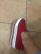Tienda Online Las Mujeres Zapatos de Cuero genuino Marca Diseñador Creepers Zapatos de Plataforma Alta Calidad Suede Lace Up Mujeres Pisos Creepers Alpargatas | Aliexpress móvil
