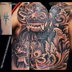 Cover up to bali masks