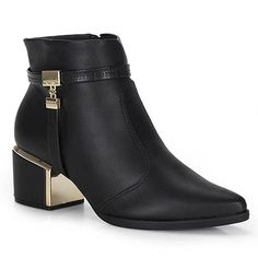 a2b08339e83 Ankle Boots Feminina Vizzano - Preto