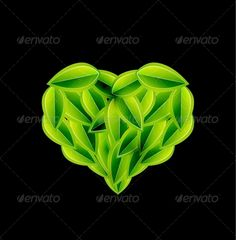Eco Love Heart Made of Leaves - Vector  #GraphicRiver         Vector illustration. Fully editable vector. All design elements included in EPS file (use of Adobe Illustrator or other vector graphics editors is preferred).     Created: 21December12 GraphicsFilesIncluded: JPGImage #VectorEPS Layered: No MinimumAdobeCSVersion: CS Tags: abstract #background #beautiful #bright #concept #design #eco #ecology #element #environment #environmental #eps10 #forest #graphic #green #heart #illustration…