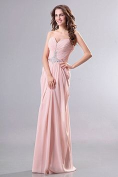 Sheath-Column Chiffon Classic Party Gown wr2383 - http://www.weddingrobe.co.uk/sheath-column-chiffon-classic-party-gown-wr2383.html - NECKLINE: Sweetheart. FABRIC: Chiffon. SLEEVE: Sleeveless. COLOR: Pink. SILHOUETTE: Sheath/Column. - 148.59