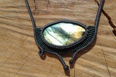 labradorite necklacemacrame necklacemacrame by ARTEAMANOetsy