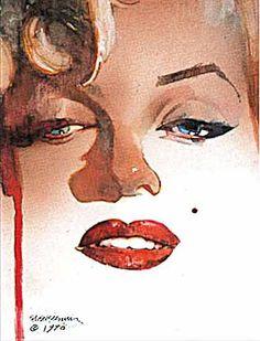 brianmichaelbendis:  Marilyn Monroe by Bill Sienkiewicz
