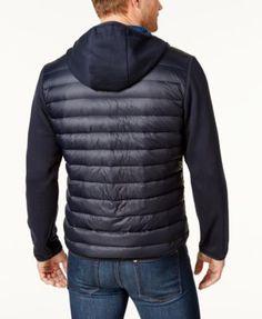 Michael Michael Kors Men's Lightweight Packable Hooded Quilted Jacket - Black M