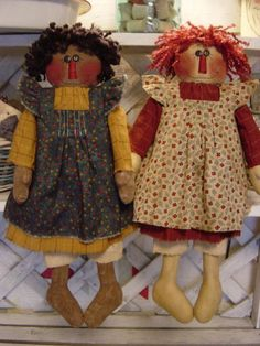 Gracie and Goldie Raggedy Doll Pattern 37 $6.00