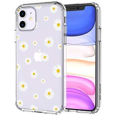 MOSNOVO iPhone 11 Case, Daisy Floral Flower Pattern Clear Design Transparent Plastic Hard Back Case with TPU Bumper Protective Case Cover for Apple iPhone 11 Girly Phone Cases, Cool Iphone Cases, Iphone Phone Cases, Iphone Case Covers, Tumblr Phone Case, Daisy, Silicone Iphone Cases, Cute Cases, Coque Iphone
