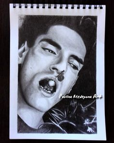 Peter Steele pencil portrait by Paulina Medepona Arts
