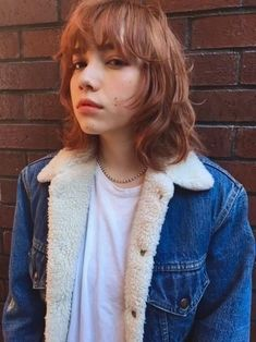 Most current and most fashionable hairstyles in the world Short Punk Hair, Asian Short Hair, Asian Hair Orange, Mullet Haircut, Mullet Hairstyle, The Medium, Medium Hair Styles, Short Hair Styles, Hair Color Streaks