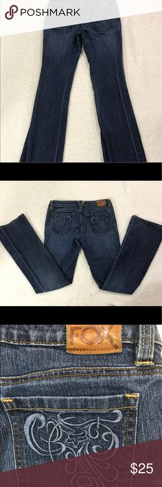 "Women's Fox ""brilliant"" denim  jeans size 5 Good condition Fox Pants Boot Cut & Flare"