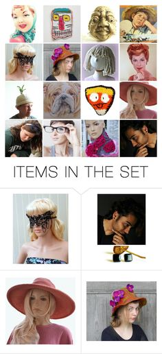 """""""Who is who?"""" by canisartstudio ❤ liked on Polyvore featuring art, vintage, etsy, handmade and CanisArtStudio"""