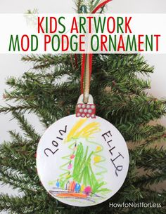 kids artwork christmas ornament