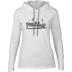 Mintage Tug Boat Toy Womens Fine Jersey Hooded T-Shirt