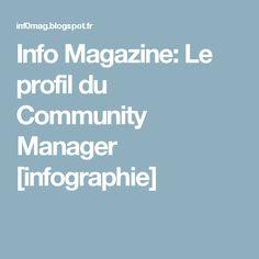 Info Magazine: Le profil du Community Manager [infographie]