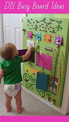 Sensory Board for Baby Toddler Kids   Preschool Sensory Board Ideas   Daycare Busy Board ideas for Teachers   DIY Busy Board Ideas