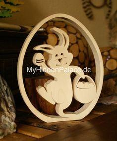 noch mehr dekorative holzpflosten - Google-Suche Woodworking For Kids, Woodworking Workshop, Woodworking Projects, Easter Projects, Easter Crafts, Holiday Crafts, Dyi Crafts, Wooden Crafts, Wooden Posts