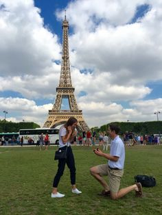 He surprised her with a birthday trip to Paris, but she never expected him to propose!