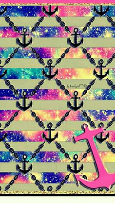 Cute anchor galaxy iPhone & Android wallpaper I created for the app CocoPPa!