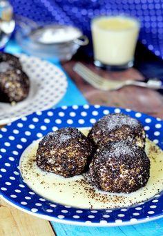 Gluténmentes túrógombóc vaníliasodóval Sweets Recipes, Healthy Recipes, Healthy Foods, Low Sugar, Crackers, Muffin, Paleo, Food And Drink, Cookies