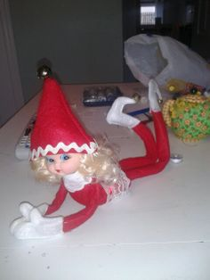 DIY elf on a shelf. Morna Jingles.