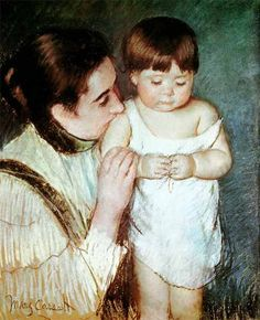 Young Thomas and his Mother by Mary Cassatt, 1893