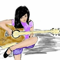#music #guitar #art #drawing #dessin #sketch #illustration