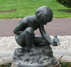 Boy & Bird Fountain by Bashka Paeff at the Boston Public Gardens in Massachusetts