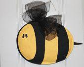Bumble Bee Burlap Door Hanger