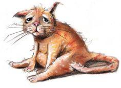 illustrasjoner av kattepuser - Google-søk Crazy Cat Lady, Crazy Cats, Cute Cat Drawing, Dog Art, I Love Cats, Troll, Illustrator, Kitty, Drawings