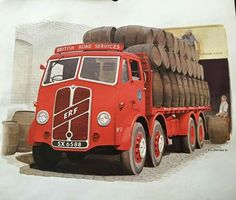 ERF 8 Wheeler British Road Services with barrels