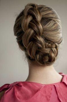 braided bun by noelle