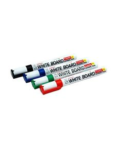 Camlin Kokuyo PB White Board Marker - Pack of 4 Assorted Colors (Black Blue Red Green) | Markers and Highlighters Permanent Markers and Marker Pens Office Products Pens Pencils and Writing Supplies | Best news and deals!