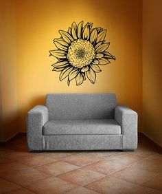 Vinyl Wall Decal Sticker Sunflower #1069
