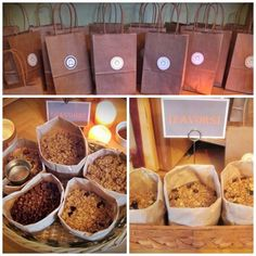 Owl Baby Shower Favors: 5 Different types of Homemade Granola's + 2 types of roasted nuts
