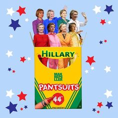 The pantsuits of Hillary