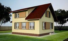 Proiect casa subsol parter si mansarda - Smart Home Concept Smart Home, Home Fashion, Concept, Mansions, House Styles, Design, Home Decor, Cots, Smart House