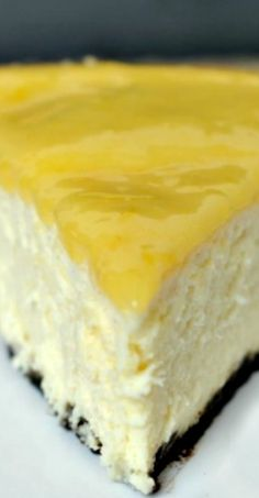 Lemon Cheesecake. Creamy and delicious...