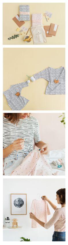 KIT | DIY .  Crea camisetas únicas para ti, para tu pequeña o para las dos.______ SEWING KIT for make a pretty tee for you and your little one.