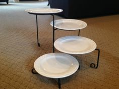 Mesa International Four Tier Plate and Black Wrought Iron Style Serving Stand | eBay