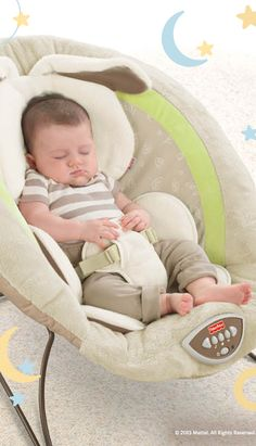 The My Little Snuggapuppy Deluxe Bouncer is a perfect place to soothe baby. #BabyGear #Sleep