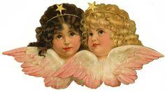 Angels Cherub Stars Wings Graphic Image Art Fabric Block Doodaba 8 x 10 Victorian Village, Victorian Angels, Images Vintage, Vintage Pictures, Christmas Angels, Vintage Christmas, Vintage Illustration, Village Photos, Angel Aesthetic